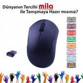 Mıla Ml352 Mila Kablosuz Usb Nano Alıcılı Optik Mouse Siyah.