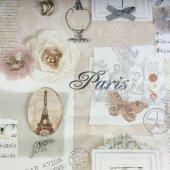 Ithal Çiçek Desenli Duvar Kağıdı (Parıs Natural) 31,90tl