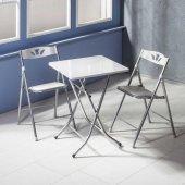 Vural Katlanır Kırma Masa Sandalye Takımı 60x60