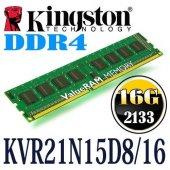 Kingston 16gb 2133mhz Ddr4 Pc Ram Kvr21n15d8 16