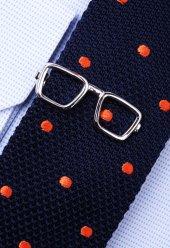 Gözlük Gümüş Kravat İğnesi Kıy36