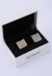Gri Gümüş Renk Kol Düğmesi Kd175