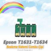 Epson T1631 T1634 Uyumlu Besleme Sistemi Combo Çip...
