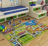 Confetti Çocuk Odası Anaokulu Oyun Halısı Highway...