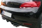 Volkswagen Scirocco 2009 2014 Çift Egzoz Çıkışlı Difüzör (Plast