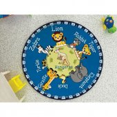 Confetti Çocuk Odası Anaokulu Oyun Halısı Animal P...