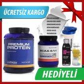 Nutrade Premium Protein Tozu 2250gr + Bcaa 4.1.1 700 Gr