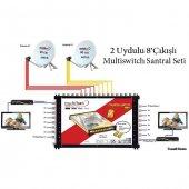 2 Uydulu 8 Çıkışlı Multiswitch Santral Seti