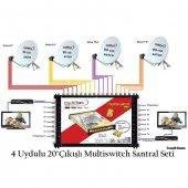 4uydulu 20 Çıkışlı Multiswitch Santral Seti