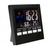 Masa Üstü Alarmlı Saat Lcd Ekran Sıcaklık Ve Nem 2159t