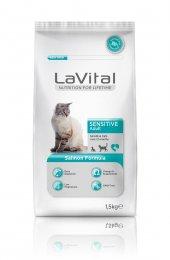 Lavital Sensitive Somon Açık Kedi Maması 1kg