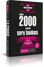 2019 Kpss Eğitim Bilimleri Çözümlü Efsane 2000 Soru Bankası Pegem Yayınları