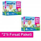 2&#039 Li Molfix Bebek Bezi Süper Fırsat Paketi 4 Numara 74&#039 Lü 7 14 Kg
