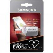 Samsung 32gb Microsd Evo Plus Class10 80mb Sn Hafıza Kartı + Sd A