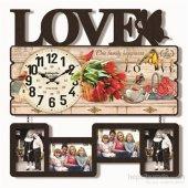 Sevgi Mdf Çerçeveli Duvar Saati 60*59 Cm