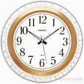 Time Gold Ahşap Görünümlü Duvar Saati Çap 35 Cm