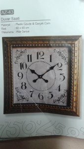 Time Gold Duvar Saati 60*60 Cm