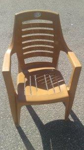 Plastik Bahçe Sandalyesi Sarı 4 Adet
