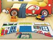Confetti Çocuk Odası Anaokulu Oyun Halısı Garage 100x160