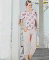 Monamise Modal Bayan Kapri Pijama Takımı
