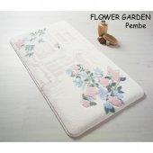 Confetti Flower Garden Kaymaz Banyo Paspası Halısı...