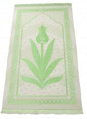 Lüks Laleli Açık Renk Şönil Seccade 0320 Yeşil