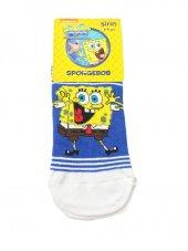 Spongebob Lisanslı Çoçuk Çorabı 8 9 Yaş Beyaz