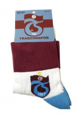Trabzon Spor Lisanslı Çorap Beyaz