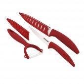 Emsan Cera Moni Best Seramik 3lü Bıçak Seti Kırmızı