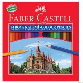 Faber Castell Kuru Boya Kalemi 24 Renk Tam Boy 116324