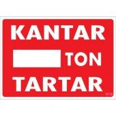 Pvc İş Güvenliği Levhası Kantar Ton Tartar