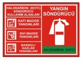 Yangın Söndürücü Levha Halokarbon (Hcfc) Söndürücü Kullanım Alanları