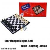 Star Oyun Manyetik Satranç+tavla+dama Takımı