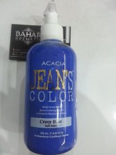 Jeans Color Su Bazlı Amonyaksız Saç Boyası Crazy Blue(Deli Mavi)