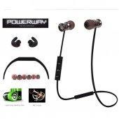 Powerway Sport Extra Bass Mikrofonlu Mıknatıs Bluetooth Kulaklık