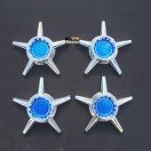 5li Yıldız Mavi Jant Kapağı Fırfırı (4 Adet)