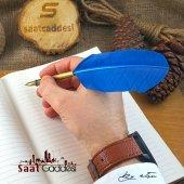 Steel Pen Kuş Tüyü Divit Kalemi Seti Mavi