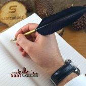 Orijinal Steel Pen Kuş Tüyü Divit Kalemi Seti Siyah
