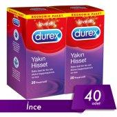 Durex Yakın Hisset (İnce Prezervatif) 40lı Avantaj Paketi