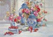 500 Parça Kiraz Ve Çiçekler Puzzle