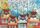 Anatolian 500 Parça Kedi Evler Puzzle