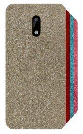 Nokia 6 Simli Parlak Silikon Kılıf + Kırılmaz Cam