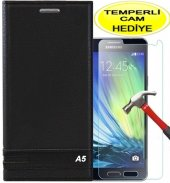 Samsung Galaxy A5 2016 Kılıf Siyah Magnum Kapaklı