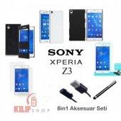 Sony Xperia Z3 Kılıf & Aksesuar Seti 9in1