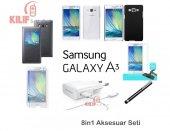 Samsung Galaxy A3 Kılıf & Aksesuar Seti 9in1