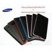 Samsung Galaxy A5 Kılıf Renkli Silikon 2xflim