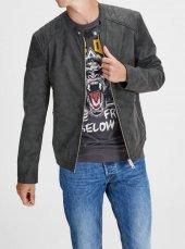 Jack Jones Erkek Deri Ceket 12125768 Bıker Lıght Jacket