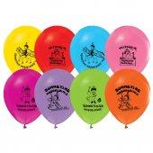 64 Adet Sünnet Baskılı Balonlar Sünnet Düğünü Balon Renkli Ucuz