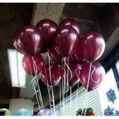 40 Adet Bordo Balon Doğum Günü Helyumla Uçan