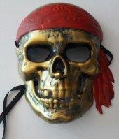 1 Adet Altın Sarısı Korsan Maske Parti Malzemesi Aksesuarı